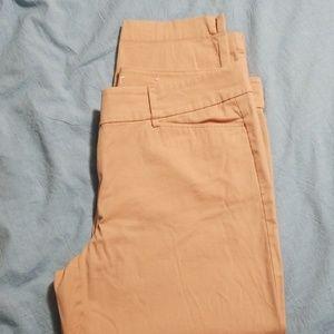 Ann Taylor Loft Peach Original Crop Pants